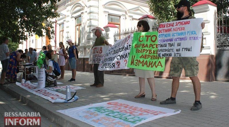 «СТОП экоцид!»: в Измаиле идет сбор подписей за прекращение вырубки деревьев мэром Абрамченко