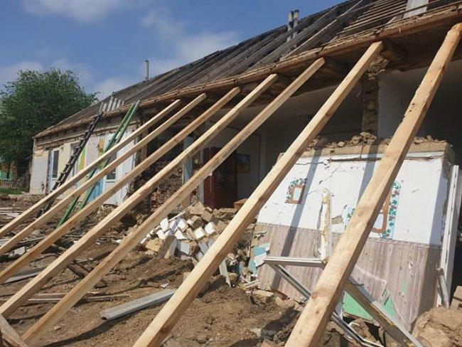 В Арцизском районе во время ремонта обрушилась стена детского сада